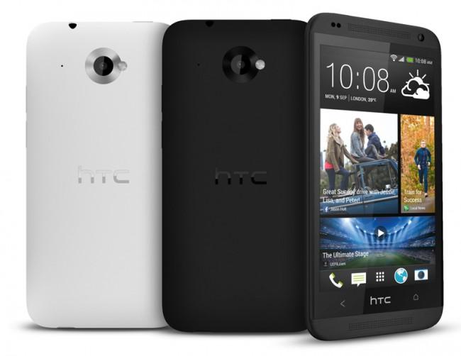 Das HTC Desire 601 kommt mit den Frontlautsprechern des HTC One auf den Markt und soll eine Käuferschicht in der mittleren Preisklasse ansprechen. Foto: HTC.