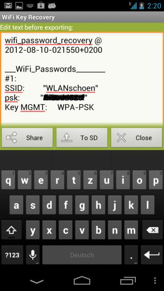 WLAN_Passwort_auslesen_2