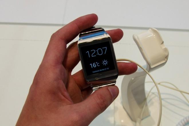 Samsungs Galaxy Gear wird zurzeit auf der IFA in Berlin gezeigt.