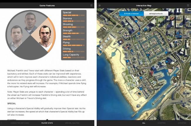 Neben zahlreichen Beschreibungen findet man außerdem eine Karte von der Spielwelt.