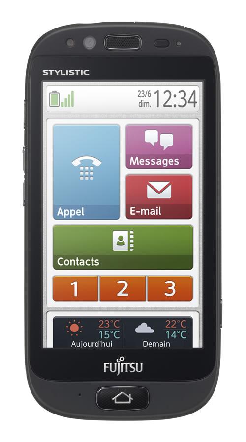 Das Stylistic S01: ein stylishes Smartphone für betagte Anwender. (Foto: Fujitsu)