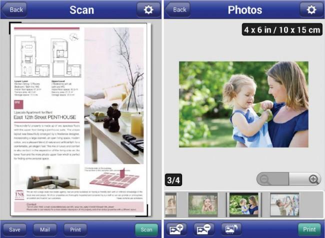 Auch Scan-Vorgänge sind mit der iPrint-App und kompatiblen Epson-Geräten kein Problem. Fotos lassen sich mit der iPrint-App in verschiedenen Formaten ausdrucken.