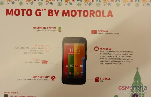 Die europäische Variante des Motorola X soll als Motorola G noch vor dem Weihnachtsgeschäft auf den Markt kommen. Foto: GSM-Arena.