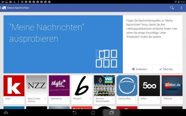 Google Play Kiosk lernt ständig dazu und sucht je nach deinen Präferenzen die richtigen News heraus.