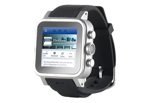 Die 421.RX: Eine Uhr, die auch ein Smartphone ist (Foto: Pearl)