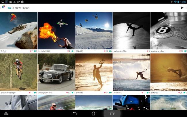In der App kannst du aus unterschiedlichen Kategorien wählen.