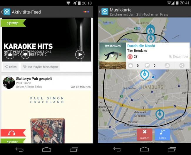 Du kannst in den Einstellungen festlegen, welche Musikabspielprogramme die App automatisch überwachen soll.