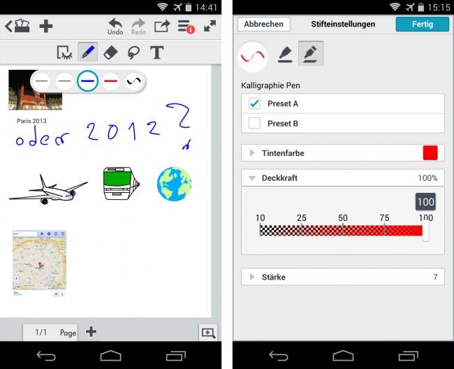 Dank der App Note Anytime Lite kannst du Notizen anlegen, die nicht nur aus Text, sondern auch aus Zeichnungen und Fotos bestehen.