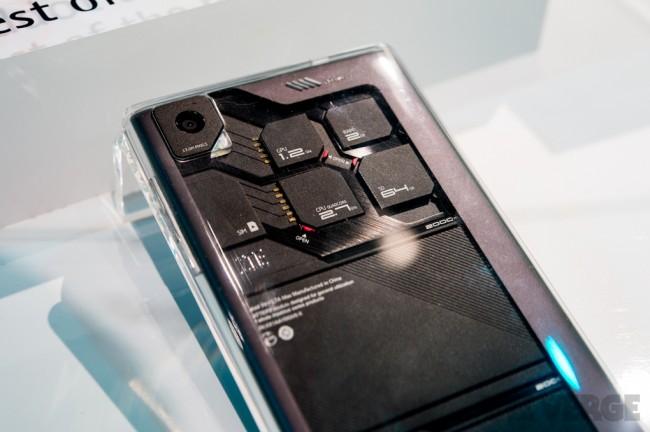 Modulares Smartphone: Konzept des ZTE Eco Mobius mit seinen einuelnen Modulen. (Bild: The Verge)