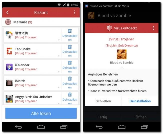 """""""CM (Cleanmaster) Security"""" spürt bösartige Apps auf – und warnt dich auf Wunsch auch bereits beim Installieren solcher Apps."""