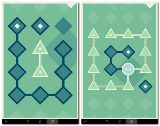 Ein Dreieck kann nur mit einem Dreieck verbunden werden. Dies gilt auch für andere Formen wie das Quadrat.