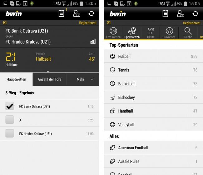 Als einer der bekanntesten Wettanbieter überzeugt BWIN mit einer eigenen App, zahlreichen Wettangeboten und starken Quoten.