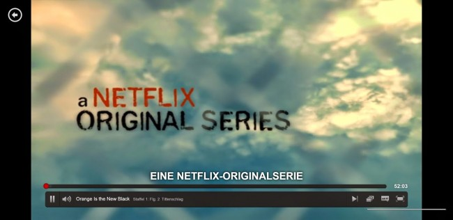 Auch die Netflix Eigenproduktionen wie Orange is the New Black sind verfügbar.