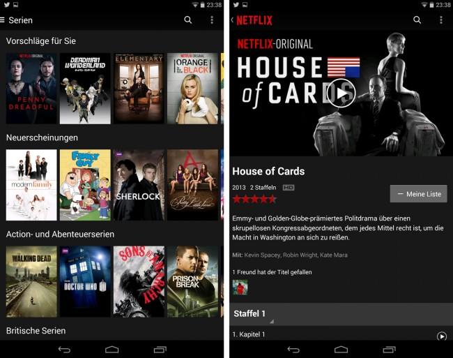 Ein zentrales Feature von Netflix ist ein ausgefeiltes Empfehlungssystem, das auf von dir bereits abgegebenen Bewertungen basiert.
