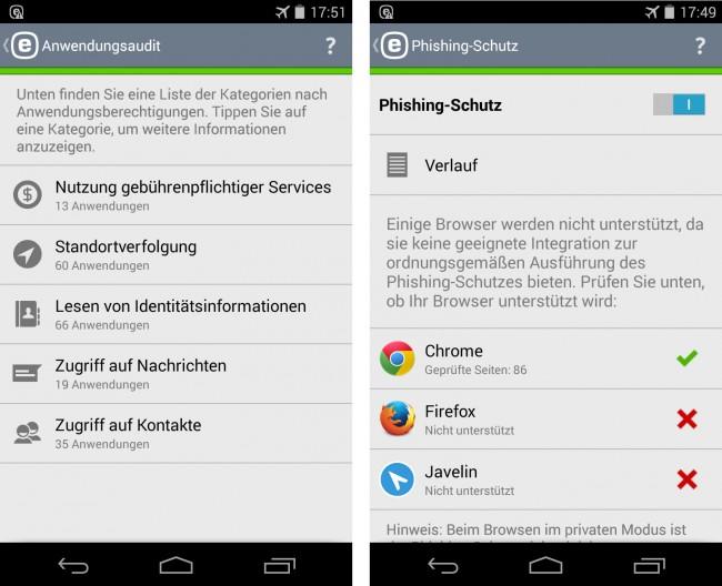 """Die Funktion """"Anwendungsaudit"""" verrät Ihnen, welche Apps auf Ihrem Smartphone sich welche Rechte herausnehmen."""