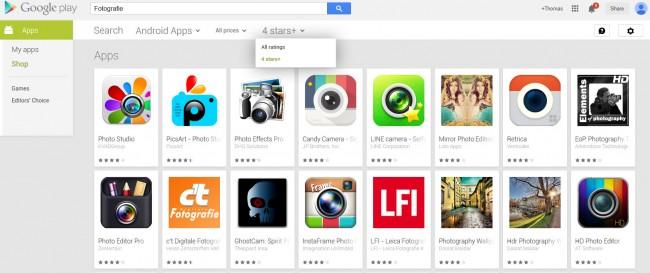 Dank der neuen Filter-Funktion im Play Store kannst du dir nur mehr die Bestbewertetsten Apps anzeigen lassen.