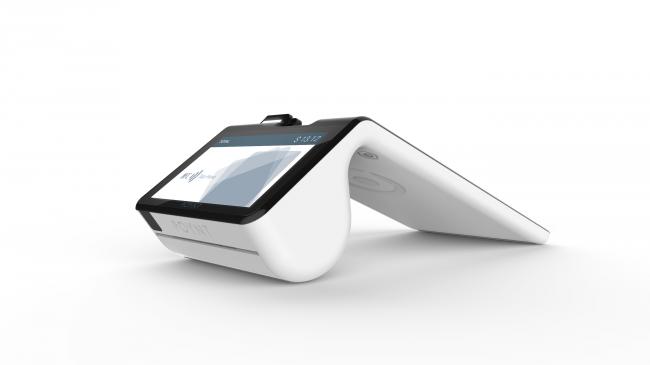 Das Poynt Smart Terminal unterstützt das Bezahlen mit Magnetstreifenkarten, mit Chip-Karten, mit NFC, mit Bluetooth und mit QR-Codes. (Foto: Poynt Co.)