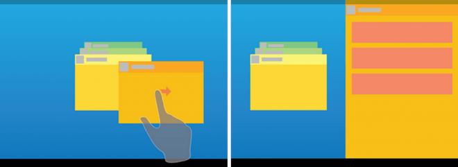 Im Multitasking-Menü auswählen und zur Seite wischen. (Bild: Android Police)