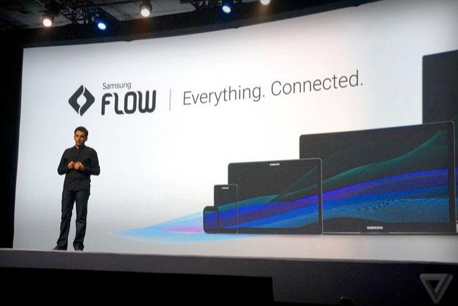 Im Rahmen der Samsung Developer Conference wurde Samsung Flow vorgestellt. (Foto: TheVerge)