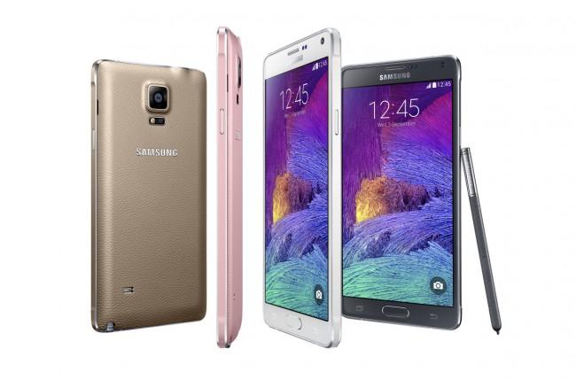 """Das """"Galaxy Note 4 LTE-A"""" von Samsung unterstützt dank LTE-Advanced und Carrier Aggregation als erstes Smartphone Datenübertragungsraten von bis zu 300 Mbps. (Foto: Samsung)"""