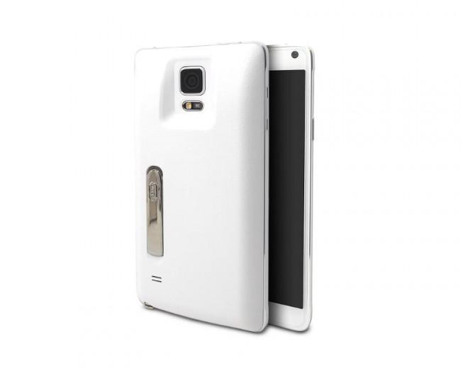 """Der Ersatzakku """"Mugen Power 6640mAh Extended Battery HLI-N910XL"""" verdoppelt die Laufzeit des """"Galaxy Note 4"""" – und lässt dessen Gehäuse etwas klobiger werden. (Foto: Mugen Power Batteries)"""