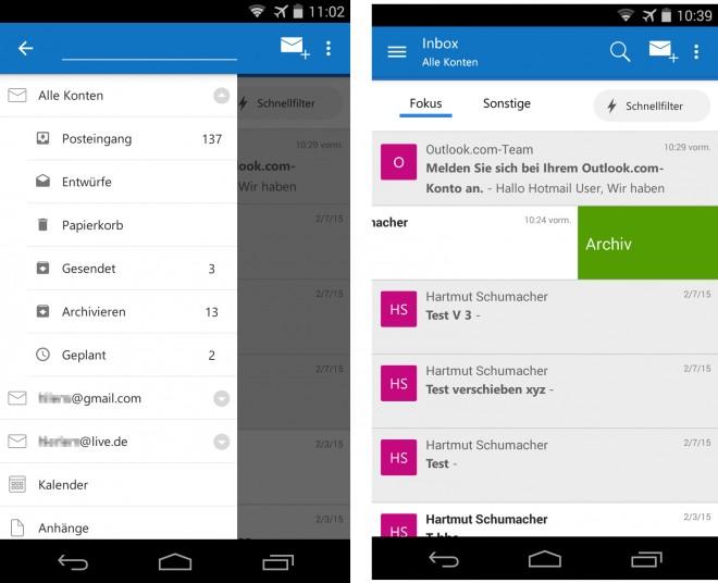 Microsoft Outlook Vorschau - 01