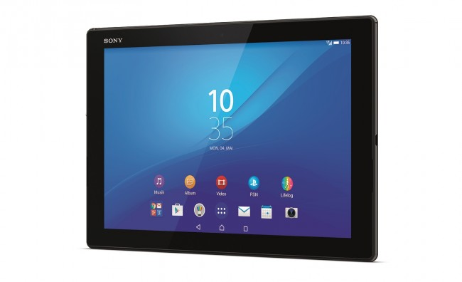 Xperia Z4 Tablet_schwarz_front40_ hires