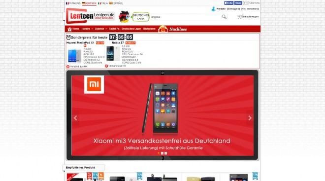 Lenteen.de: Ausnahmen bestimmen aber die Regel, auch deutschsprachige Shops sind zu finden – und bieten teilweise sogar versandkostenfreie Lieferung.