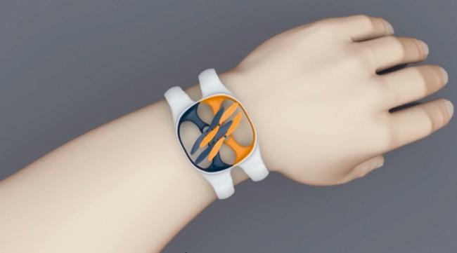 Ist es ein Armband ? Oder eine Uhr? Nein, es ist ein Quadcopter - auch bekannt als Drohne. Kamera ist inklusive.