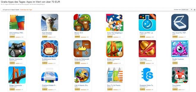 40 Apps hat Amazon zu verschenken. Allerdings nur bis 15. August. Eile ist also geboten!