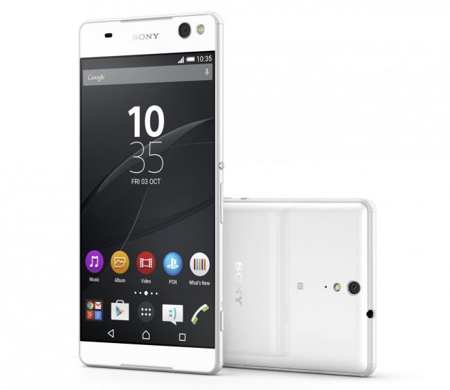 Auffällig am Gehäuse des Smartphones Xperia C5 Ultra sind die kaum vorhandenen seitlichen Ränder. (Foto: Sony Mobile Communications)