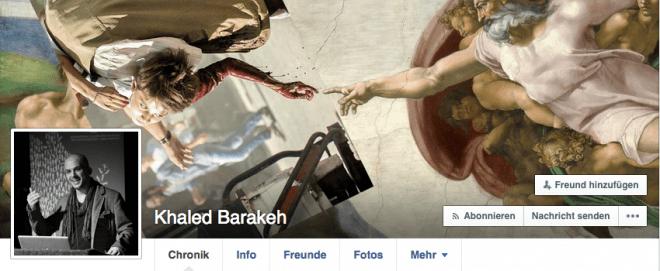 Auf seinem Facebook-Profil zeigt der syrische Künstler Khaled Barakeh das Grauen der aktuellen Flüchtlingskrise.