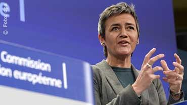 """EU-Kommissarin Margrethe Vestager: """"Ich möchte sicherstellen, dass die Märkte in diesem Bereich [der Smartphones, Tablets und ähnlichen Geräte] sich entwickeln können, ohne dabei von einem Unternehmen durch wettbewerbswidrige Handlungen behindert zu werden."""" (Foto: Europäische Kommission)"""