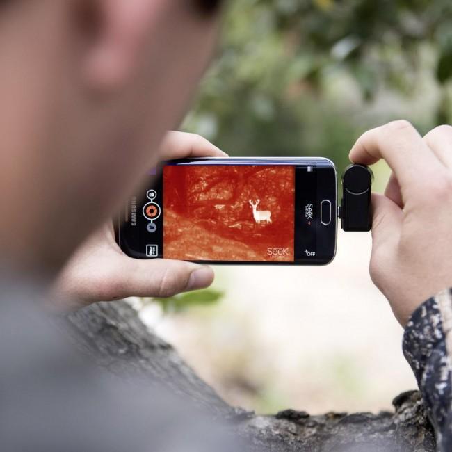Wild aufspüren - mit dieser Erweiterung des Smartphones kein Problem, auch nicht bei Dämmerlicht oder vollständiger Dunkelheit. Verantwortlich ist Militärtechnik.