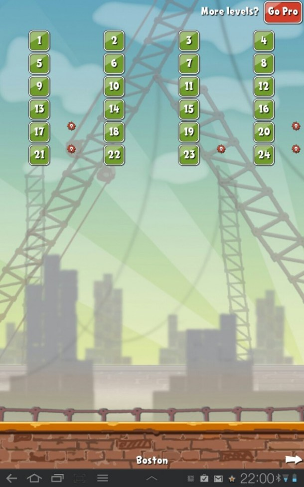 Mit den 24 Levels in Boston beginnt man