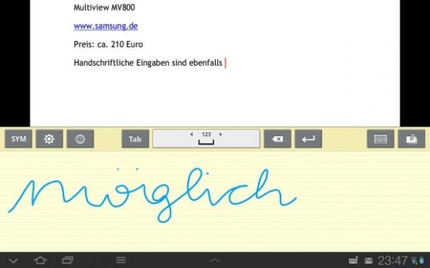 Die App versteht auch handschriftliche Eingaben.