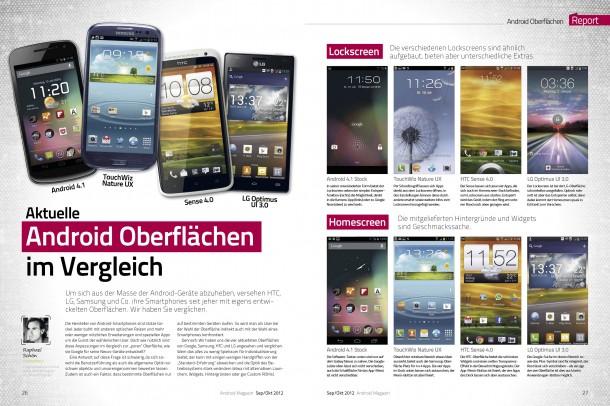 Android Magazin 8 - Android Oberflächen im Vergleich (2 von 4 Seiten)
