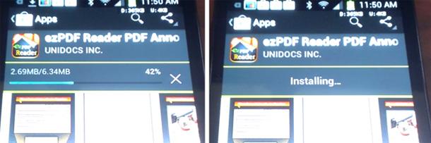 Durch das neue Smart Update Feature muss bei einem Update nicht mehr die gesammte App heruntergeladen werden. Foto: Androidpolice.com.