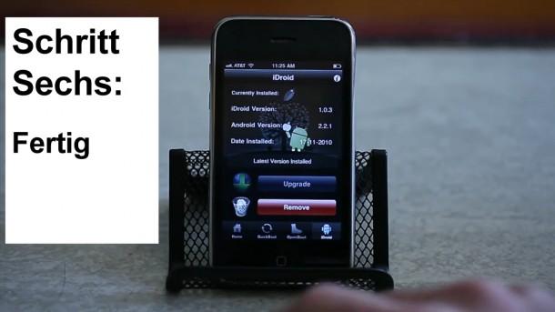 Schritt 6: Starte dein iPhone neu und probiere Android aus.