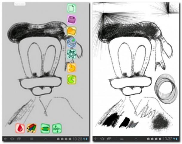 Zeichnen auf dem Tablet ist mit Sketchpad HD relativ einfach.