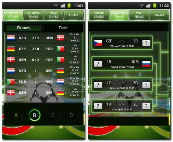 Tippe dich bis ins Finale vor mit der App EM 2012 Creator. So weist du schon von anfang an, wer Europameister wird.