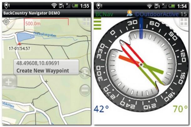Der BackCountry Navigator unterstützt Sie bei Touren jenseits des Straßennetzes. Ein eingebauter Compass lässt Sie nicht vom Weg abkommen.