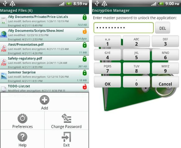 Encryption Manager Lite