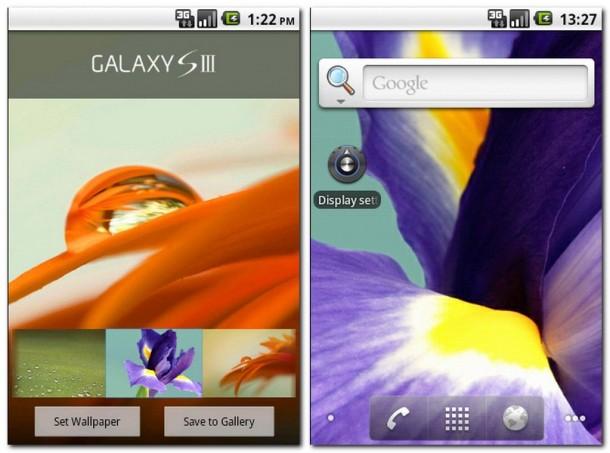Mit der App Galaxy S3 Wallpapers holen Sie sich die schönen Hintergründe des Samsung Galaxy S3 auf Ihr Smartphone.