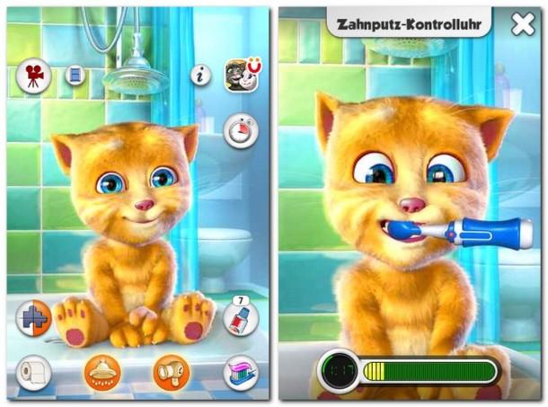 Die virtuelle Katze Ginger plappert frech alles nach, was Sie oder Ihre Kinder ihr vorsprechen.