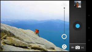 Die verbesserte Kameraanwendung mit Panorama-Modus