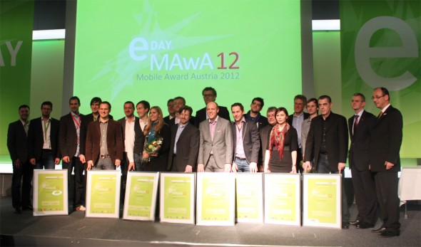 Alle Gewinner des Mobile Award Austria (Foto: Android Magazin)