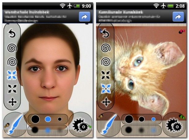 Mit dem kostenlosen Programm 'Photo Warp' ist es ein Kinderspiel, Porträtfotos zu verändern.
