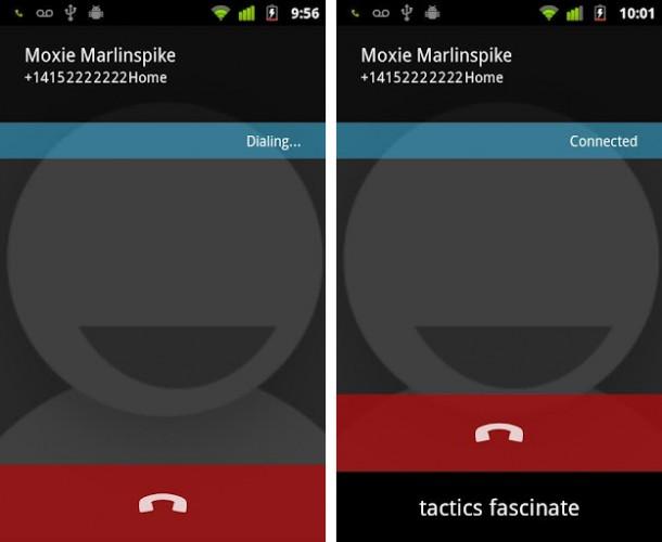 Mit der App RedPhone kann ganz einfach sicher telefoniert werden.