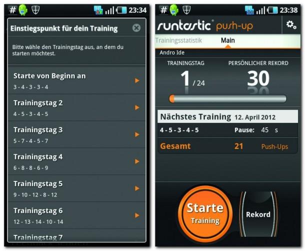 Mit der App runtastic Push-Up PRO haben Sie Ihre sportlichen Ergebnisse immer mit dabei.